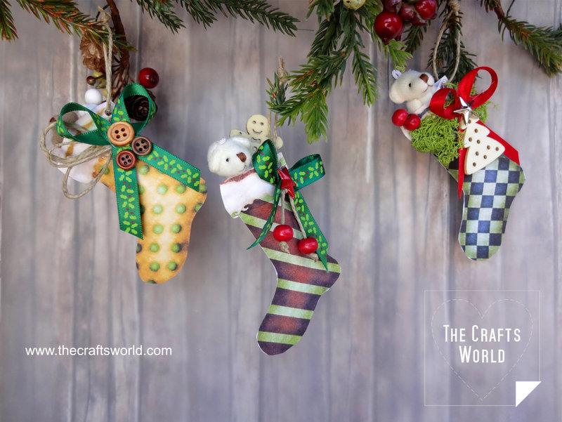 Handmade Christmas stockings with bears