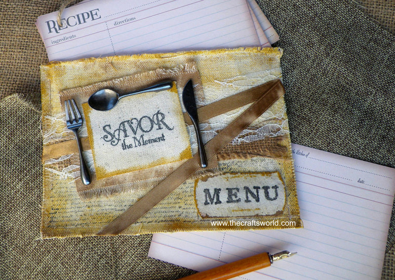 Recipe cards in a pocket