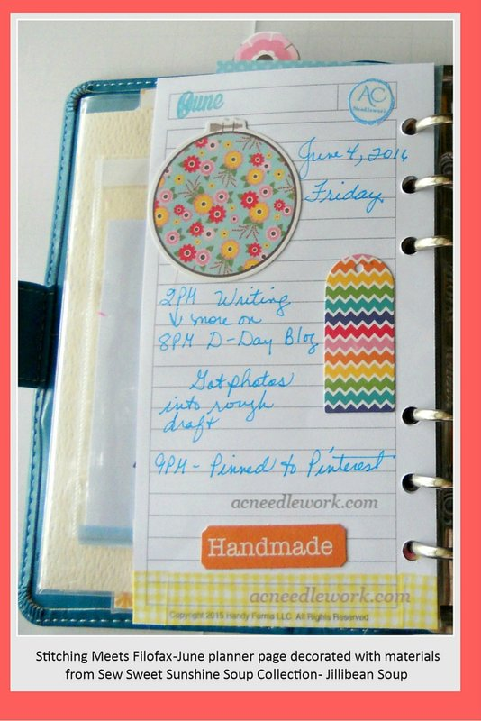 Decorate Your Planner With a Sewing Theme