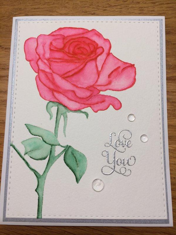 Sketchy Rose Card