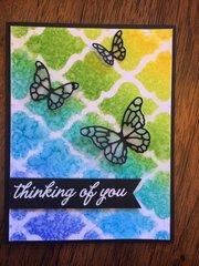 Butterfly Stencil Card