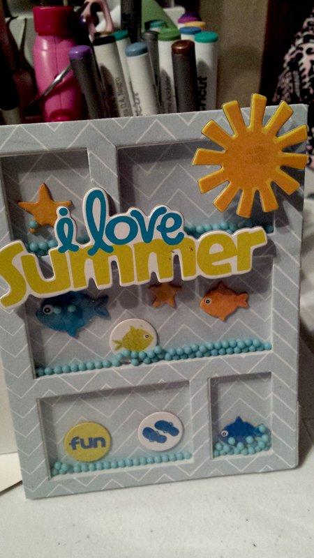 Summer Shaker Card