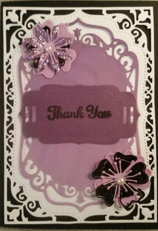 Thank you Purple fancy style
