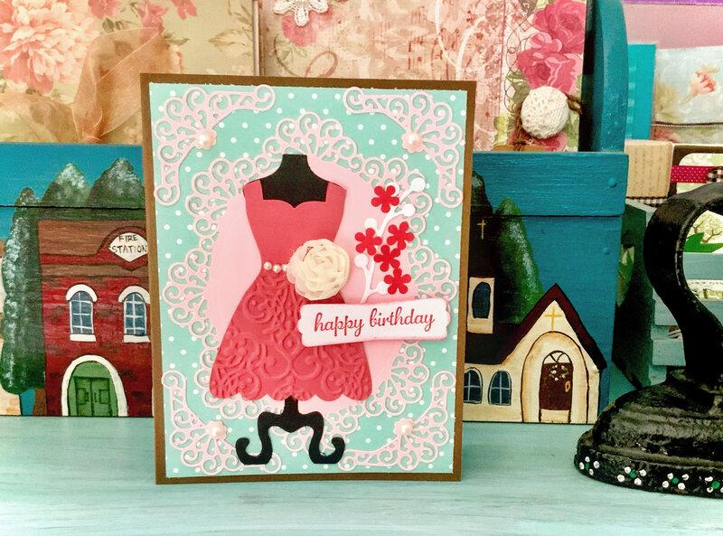 Dress birthday card