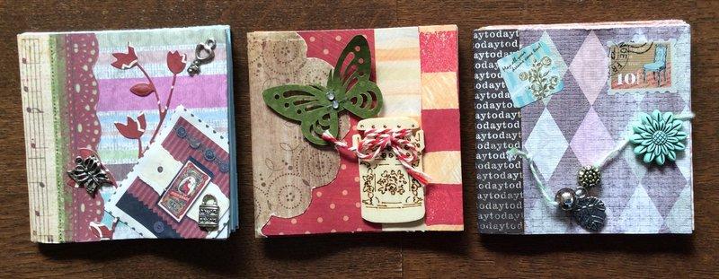 Three mini books