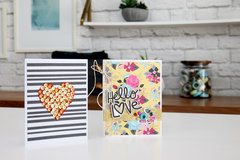 Sequins Valentine's Day Card and Hello Love Card