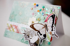 Christmas Card with Butterflies
