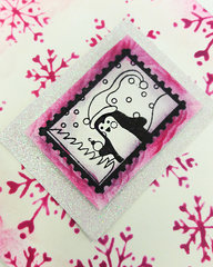 Pink Penguin Christmas Card!