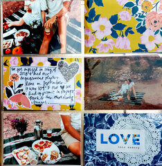 Picnic Engagement Layout with a Gold Scrapbook.com Album!
