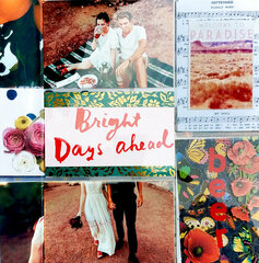 Bright Days Ahead Layout with Scrapbook.com Supplies