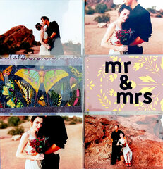 Mr & Mrs (to-be) Layout with Scrapbook.com Page Protectors