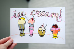 Ice Cream Drawing with Acrylista!