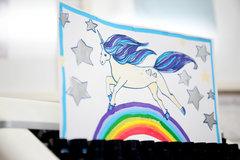 Unicorn Drawing with Acrylista Pens