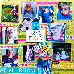 We All Belong Layout | Nieces & Nephews