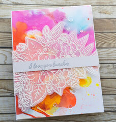 Neon Alcohol Ink Card
