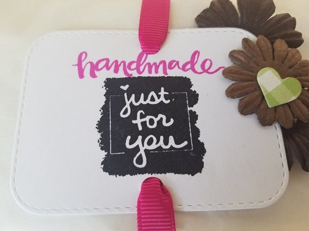 Handmade Just for You Gift Tag