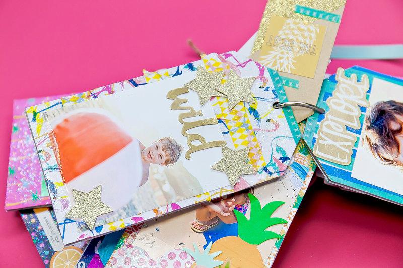 Summer Memories Tag Chipboard Mini Album