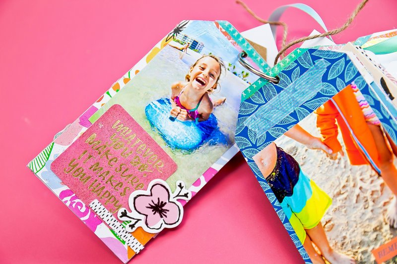 Summer Memories Tag Chipboard Mini Album