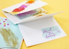 Rainbow Confetti Glimmer Punch Cards
