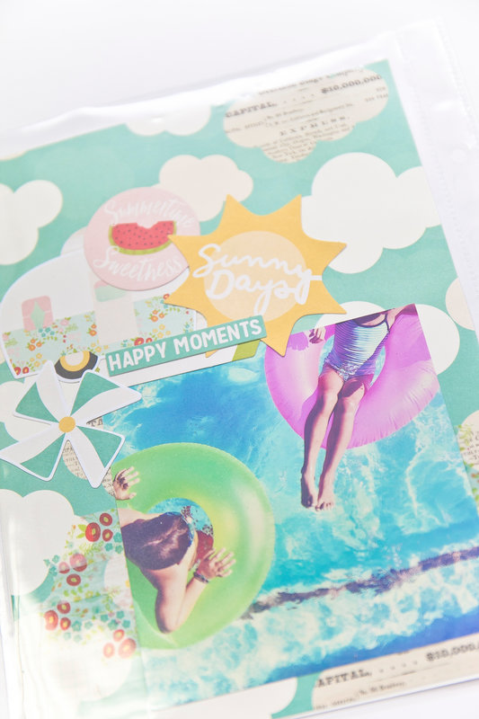 Summer Days Pocket Page Layout