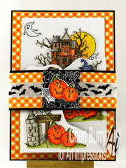 Haunted House Tryfold with Belly Band