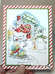 Christmas Scene Card and Tag