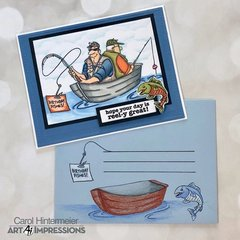 Reel Great Guys Fishing Card with Envelope