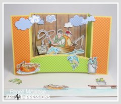 Reel Great Guys Shadowbox Card