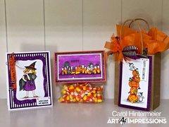 Halloween Magic Card and Treat Bag Suite