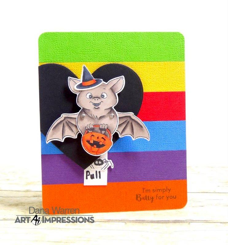 Halloween Bat Flutter Interactive Card