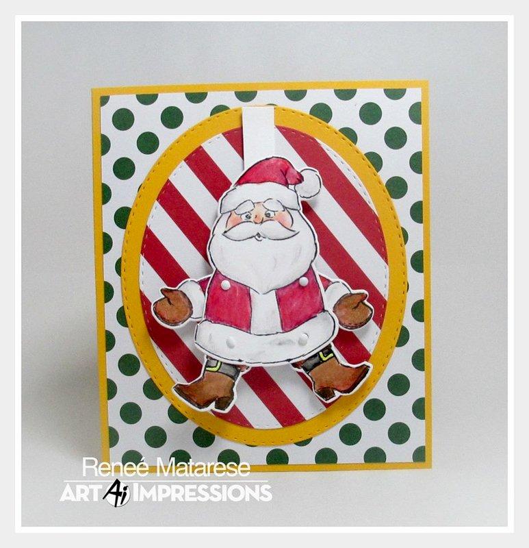 Santa Flutter Card