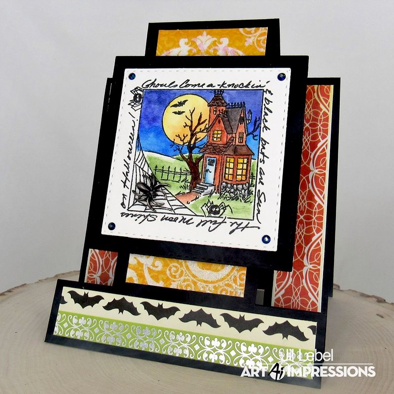 Haunted House Easel Card