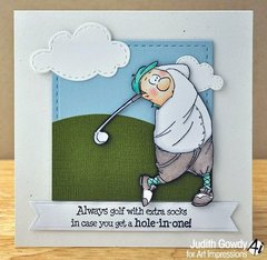 Art Impressions Gordon Golfer Set