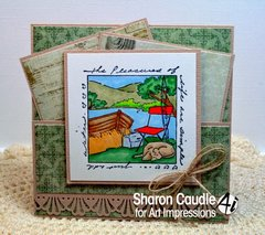Outdoor card using Art Impressions stamps