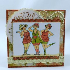 Vintage style card using Art Impressions stamps