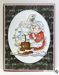 Sweet Christmas card using Art Impressions stamps