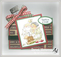 Christmas card using Art Impressions stamps