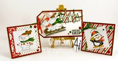 Christmas cards using Art Impressions stamps