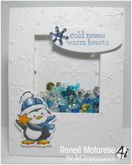 Christmas shaker card using Art Impressions stamps
