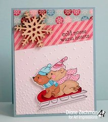 Christmas bears card using Art Impressions stamps