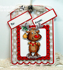 Reindeer card using Art Impressions stamps