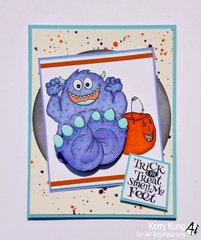 Monster card using Art Impressions stamps