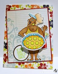 Summer card using Art Impressions stamps