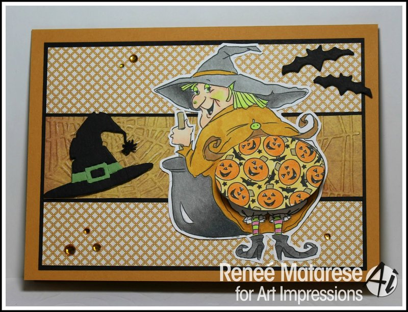 Halloween card using Art Impressions stamps