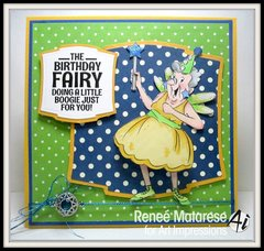 Funny happy birthday card using Art Impressions stamps