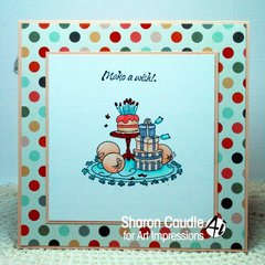Cottage card using Art Impressions stamps