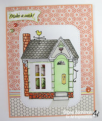 Make a Wish card using Art Impressions stamps