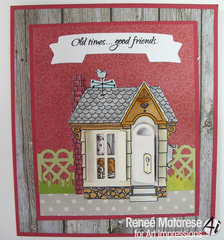 Old times, good friends card using Art Impressions stamps