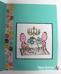 Sit long, talk much card using Art Impressions stamps
