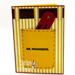 Mr. Wonderful card using Art Impressions stamps and dies